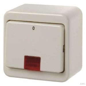 Berker AP-Wippkontr.schalter ws mit roter Linse 301240