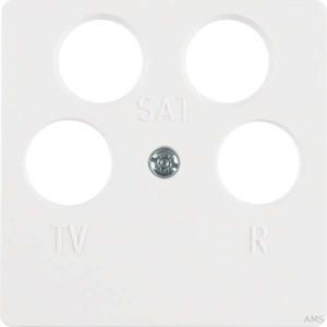 Berker Zentralplatte pws f.4Loch Antennendose 148409