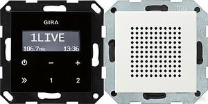 Gira Unterputz-Radio RDS System 55 rws 228003