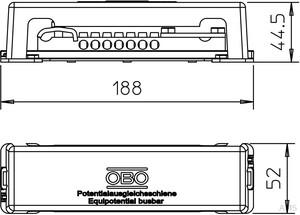 OBO Bettermann Potentialausgl.schiene 7x25qmm 1809