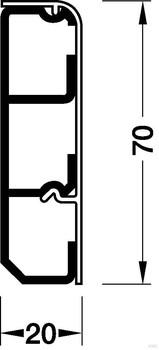 Tehalit Sockelleistenkanal SL2007109001 20x70 cremeweiss (2 Meter)
