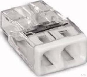 WAGO Verbindungsdosenklemme 2x 0.5-2.5 weiß 2273-202 (100 Stück)
