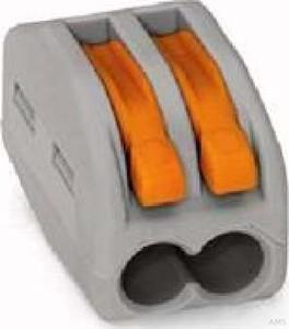 WAGO Verbindungsklemme 2x0,08-4qmm grau 222-412 (50 Stück)