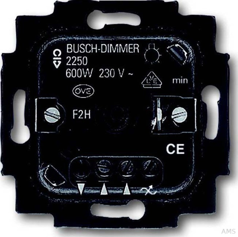 busch jaeger dimmer einsatz 60 600w drehbet tig 2250 u. Black Bedroom Furniture Sets. Home Design Ideas