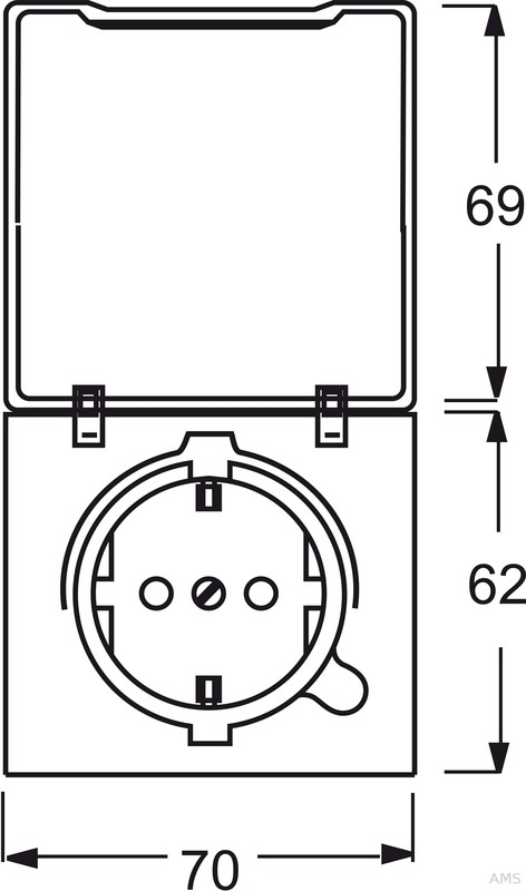 busch jaeger schuko steckdoseneinsatz ip44 alpinwei 20 eugk 34 101. Black Bedroom Furniture Sets. Home Design Ideas