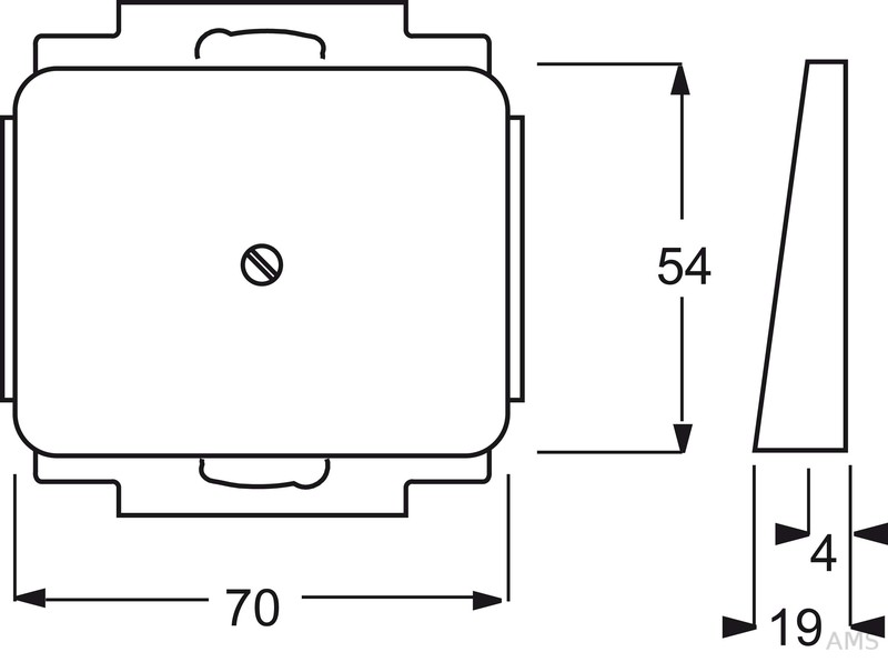 busch jaeger zentralscheibe pla m tragr f ltgsausla 1749 20. Black Bedroom Furniture Sets. Home Design Ideas