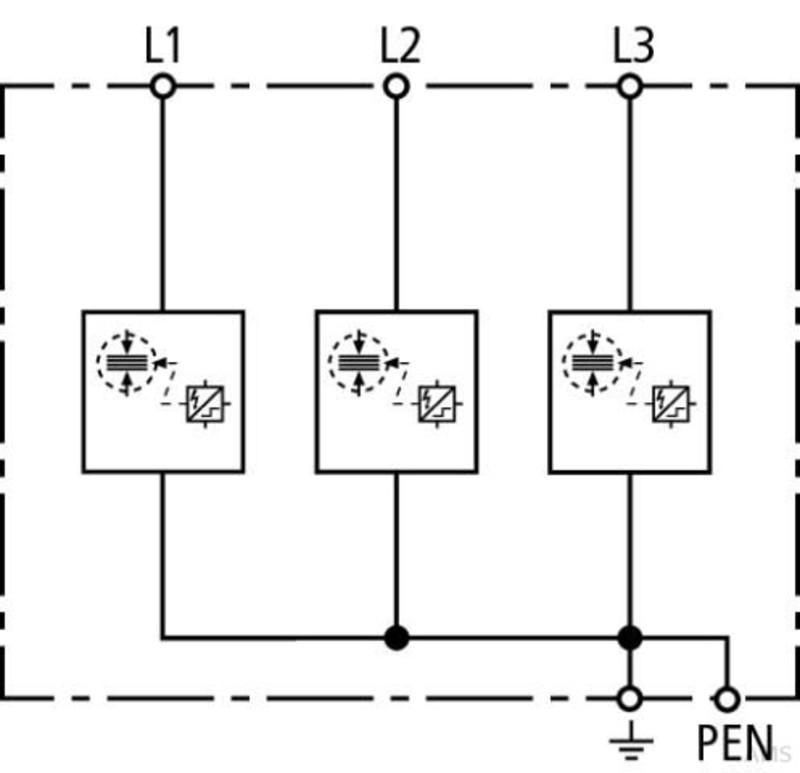 Dehn+Söhne Kombi-Ableiter TN-C-Systeme DSH TNC 255