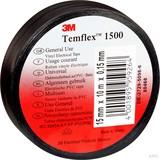 3M Elektroisolierband 15mm x10m sw TemFlex 1500 15x10sw