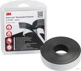 3M Klettband Druckverschluss 25mmx2,5m, 5,7mm SJ3540/IPS (4 Stück)
