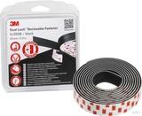 3M Klettband Druckverschluss 25mmx2.5m, 5,7mm SJ355B/IPS (4 Stück)