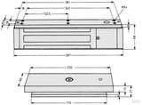 Assa Abloy effeff Flächenhaftmagnet kpl.mit Gegenplatte 828-47