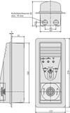 Assa Abloy effeff Tür-Terminal mit Zylinder 1337-11 uP m.Z.