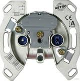 Astro Antennensteckdose 2-Loch Durchgangsdo. GUT 152