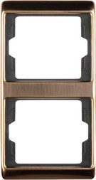 Berker Rahmen 2fach senkr.,Kupfer 13230007