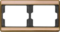 Berker Rahmen 2fach waager.,Kupfer 13630007