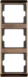 Berker Rahmen 3fach senkr.,Kupfer 13330007