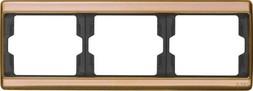 Berker Rahmen 3fach waager.,Kupfer 13730007