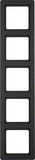 Berker Rahmen anth/samt 5fach senkrecht 10156086