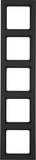 Berker Rahmen anth/samt 5fach senkrecht 10156096