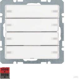 Berker Tastsensor 4fach m. Beschr iftungsfeldern und 75144229