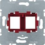 Berker Tragplatte mit roter Aufnahme 454101