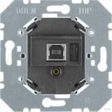 Berker USB Datenschnittstelle Up schwarz 75040004