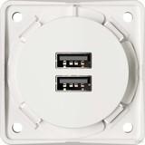 Berker USB-Ladesteckdose pws-mt 2fach 3A 926102509