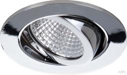 Brumberg LED-Deckeneinbaustrahler 7W 230V chrom Konverter Triac dimm