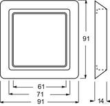 Busch-Jaeger Abdeckrahmen 1fach aws 2101-34