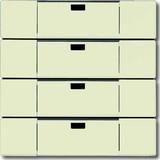 Busch-Jaeger Bedienelement 4-fach savanne/elfenbeinws 6733-82