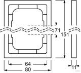 Busch-Jaeger Rahmen 2fach,Linear,sw matt 1722-885K
