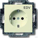 Busch-Jaeger Schuko-Steckdose elf/ws mit Aufdruck EDV 20 EUCKS/DV-82