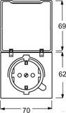 Busch-Jaeger Schuko-Steckdoseneinsatz IP44 anthrazit 20 EUGKB-35-101