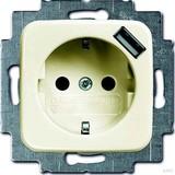Busch-Jaeger Schuko/USB-Steckdose weiß 20 EUCBUSB-212