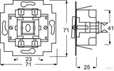 Busch-Jaeger Wippschalter-Einsatz Kreuz 230V 10A 2000/7 US