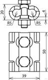 Dehn+Söhne Parallelverbinder St/tZn f. Rd 4-10mm 305 000
