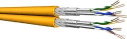 Draka Datenkabel Kat.7A S/FTP AWG22 gelb UC1500HS22 8PLSHF (500 Meter)