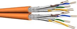 Draka Datenkabel, Kat.7, S/FTP AWG23 orange UC900 SS23 8P FRNC (1 Meter)