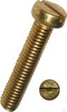 Dresselhaus Zylinderschrauben mit Schlitz, Messing 3100/000/51 4x16 (100 Stück)