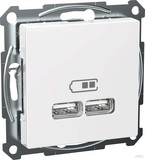 Elso USB-Ladestation 2,1A m.Wippe weiss WDE002926