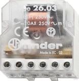 Finder Stromstoßschalter für Dose 1S/1Ö 10A 230VAC 26.03.8.230.0000