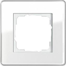 Gira Abdeckrahmen 1fach Esprit Glas C ws 0211512