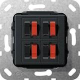 Gira Lautsprecher Anschluss 4fach sw matt 569410