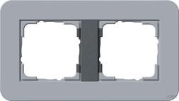Gira Rahmen 2fach Gira E3 Blaugrau/Anthrazit