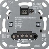 Gira Relaisschalteinsatz 2fach S3000 540400