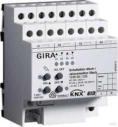 Gira Schalt-Jalousieaktor 4/2fach 16A KNX/EIB 103600