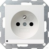 Gira Steckdose CEBEC rws-gl mit LED-Beleuchtung 117203