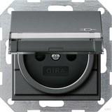 Gira Steckdose Erdstift KS KD B SF System 55 anthraz 277128