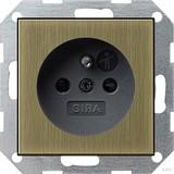 Gira Steckdose Erdstift KS bronze/schwarz 0485603