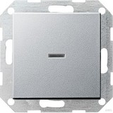 Gira Tast-Kontrollschalter alu System55 013626